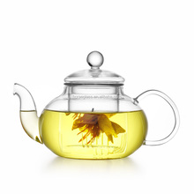 2017 Hot sales hand made heat resistant borosilicate exotic glass teapot glass tea set glass pot
