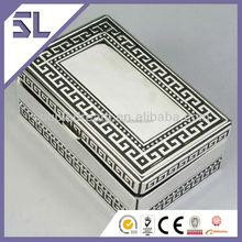 High Quality Wedding Favor Rectangular Metal With Pattern Jewelry Box Export