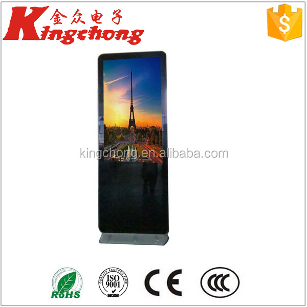65 inch large size Floor stand Advertising LCD Monitor, HD Lcd display