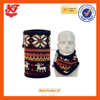 Hotsale Snow Design Multifunctional 3 in 1 Warmer Functional Thicker Polyester Material Neck Warmer Neck Scarf for Winter