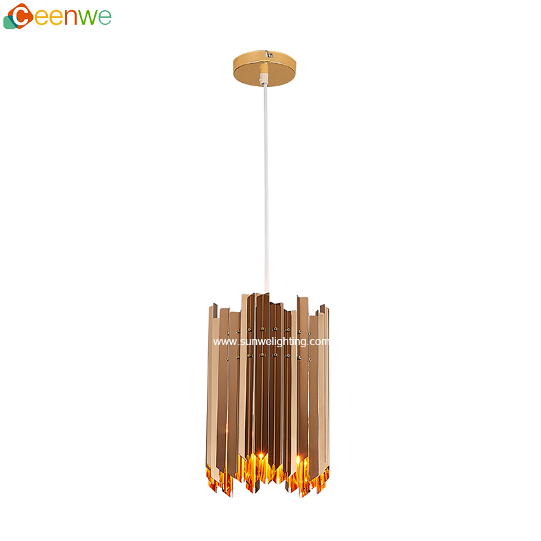 Chinese supplier wholesale chandelier clips rose gold modern chandelier pendant light