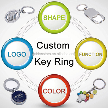 Factory directly mock up custom metal key ring for gifts
