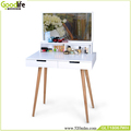 Mirrored dressing table with lights ,2 drawers,white