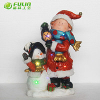 led christmas ornament snowman lantern for indoor christmas decoration