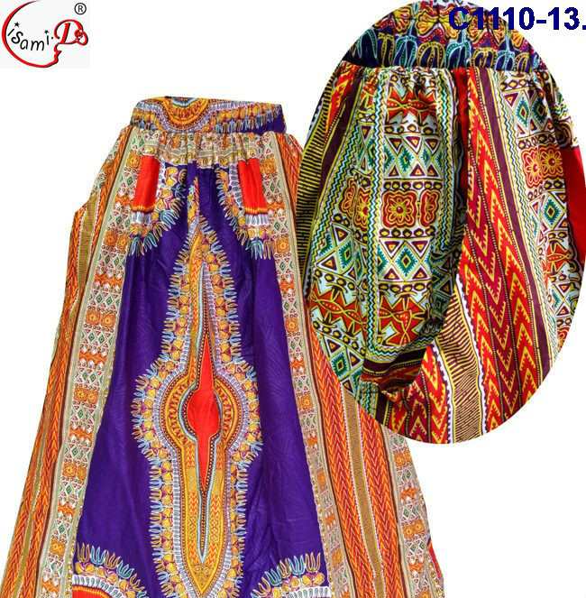 China supplier C1110(13-24) New arrival latest african long print skirt design for lady 2017