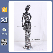 home decor new products polyresin black woman figurine