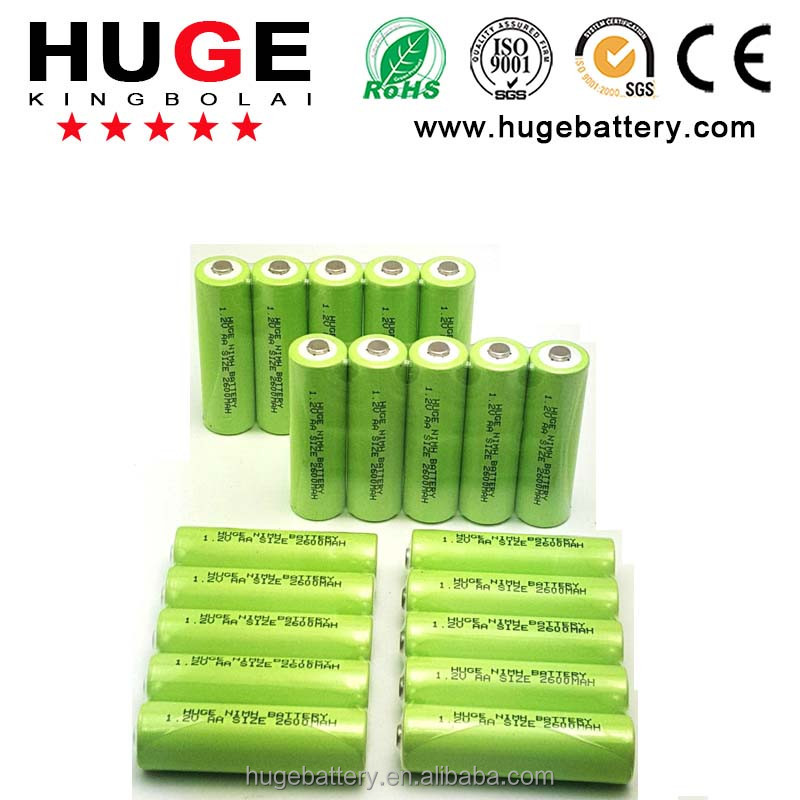 High quality Nimh AA 1800mAh 1.2V rechargeable battery