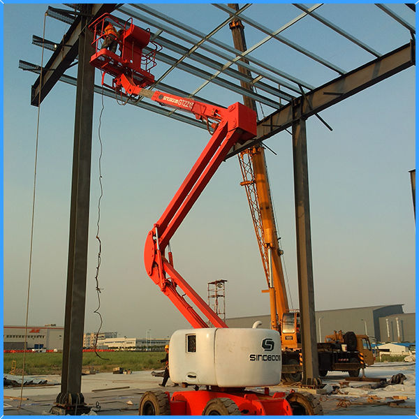 Building cleaning equipment articulated boom aerial work platform from SINOBOOM