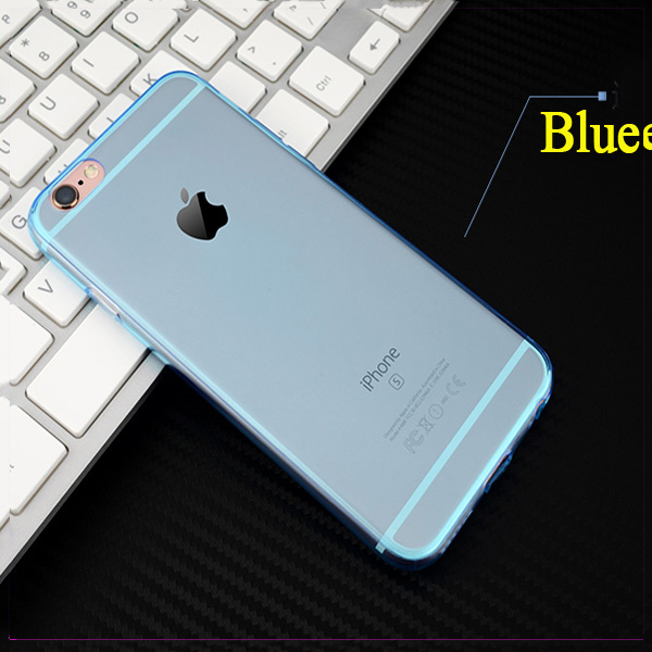 Clear soft Back Silicone Transparent Phone Case TPU Bumper Cover Case For iphone 6
