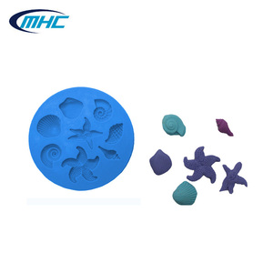 Ocean series best quality fondant tools silicon molds for cake decorating