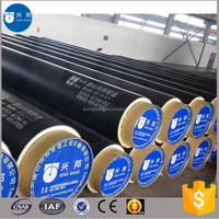 hot sale pre-insulated pipe polyurethane foam steel pipe for chemical and other anti-corrosive insulation field