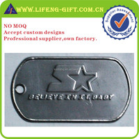 custom stainless steel high quality cool dog tags