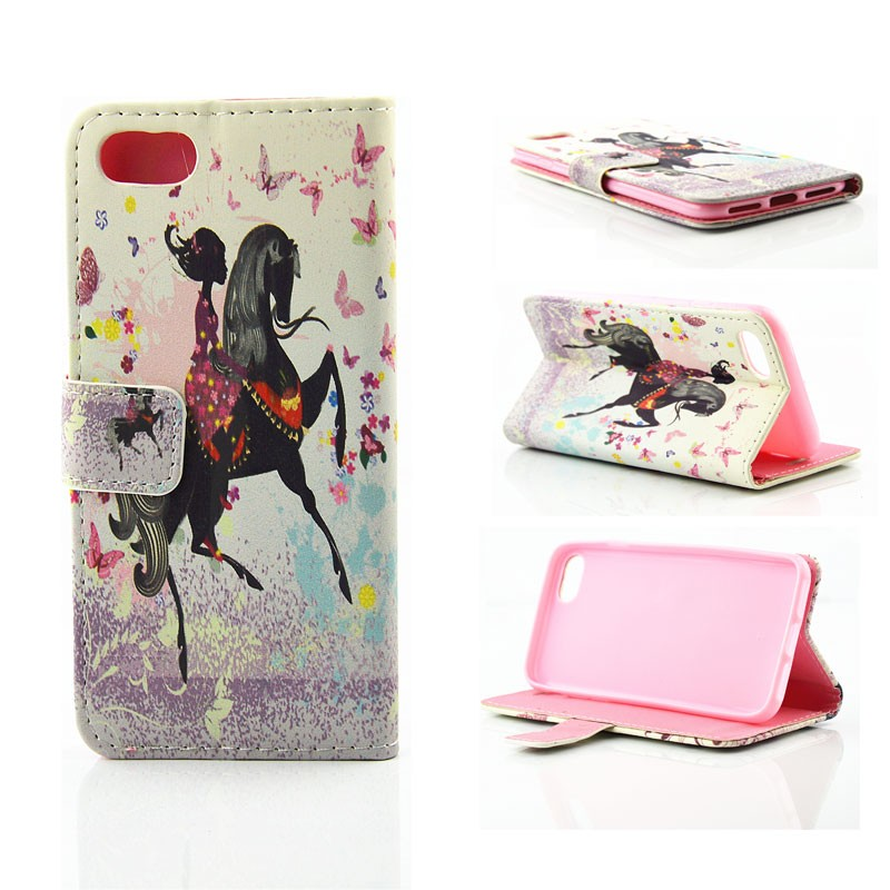 Wholesale Accessory for iPhone 7 Beautiful Girl Design Leather Wallet Mobile <strong>Phone</strong> Cover for Iphone 7