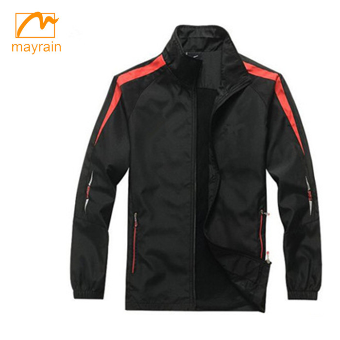 yellow reflective polyester rain jacket with hood