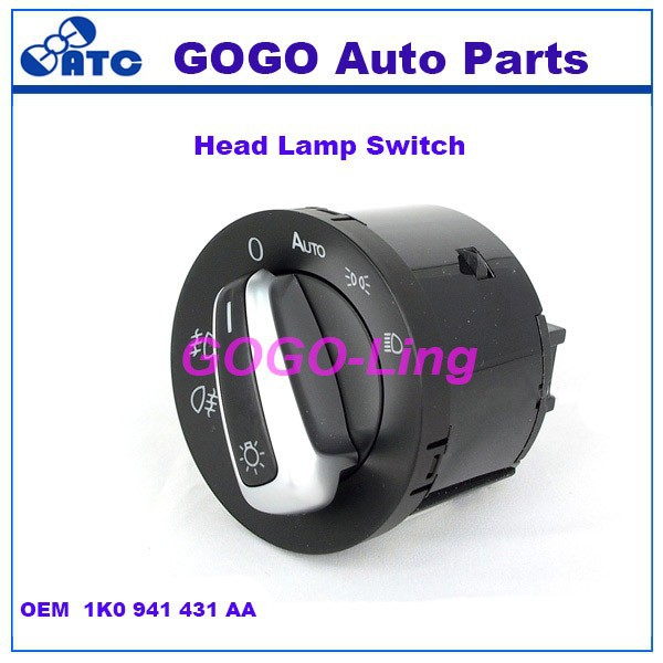 GOGO Headlight Switch forVW Golf/Jetta MK5 Passat B6 OEM 1K0941431 , 1K0 941 431A,1K0 941 431 AA