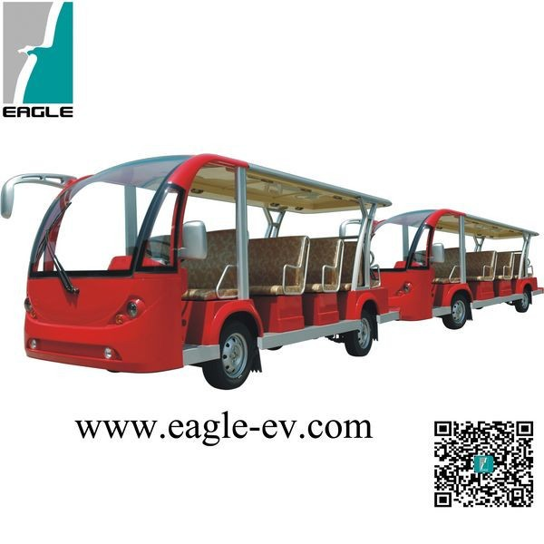 electric sightseeing bus shuttle bus EG6158T+EG6158T with trailer