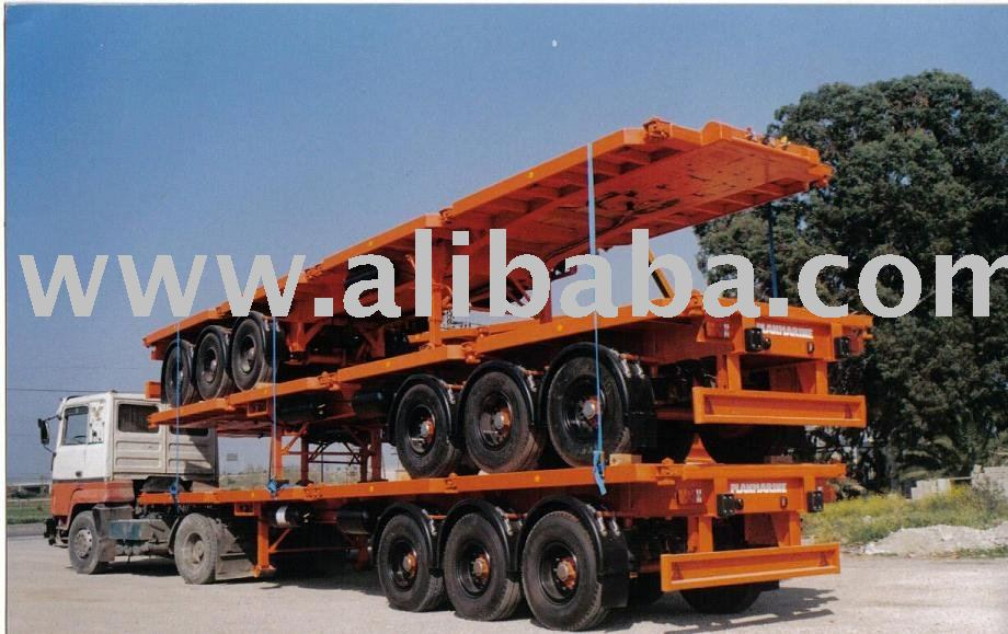 Flat - Bed Semi Trailers For Container Transportation