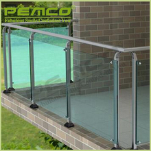 high quality factory custom stair railing design frameless Stainless Steel terrace balustrade