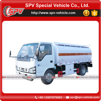 Japanese brand chassis diesel engine 6000 Litres fuel tanker truck