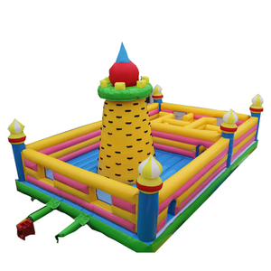 Inflatable castle jumping bouncer pvc kids playground climbing castle inflatable trampoline bouncer house air moonwalk castle