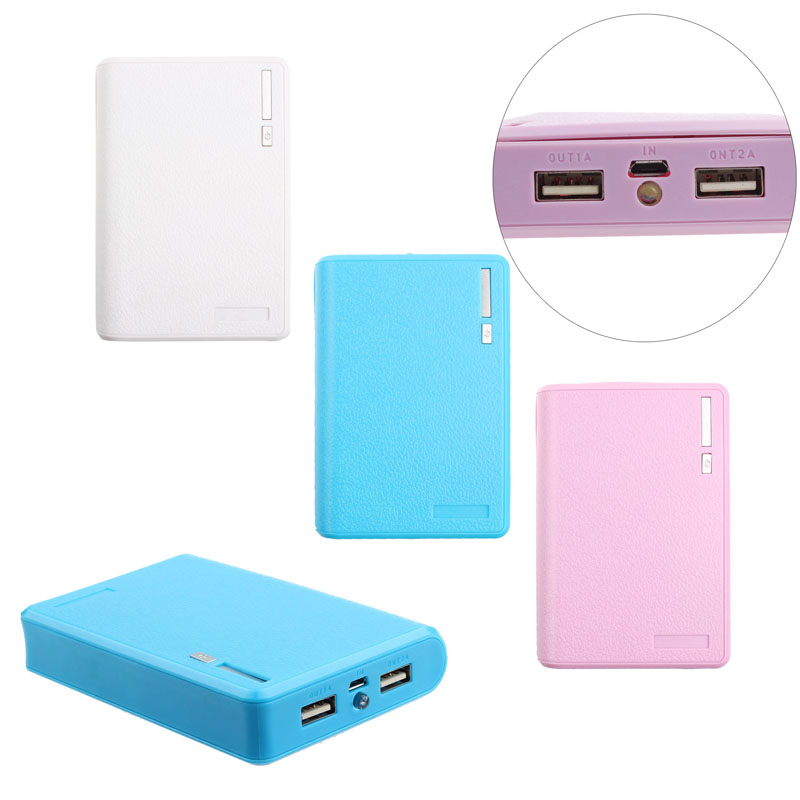 Promotional Gift Dual USB Power Bank 12000mah Portable Power Bank Built In USB Cable Mobile Power Bank