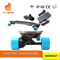 Factory Surfing on land powerful off road 4 wheel hoverboard electric skateboard with wireless RF remote controller