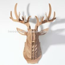 deer head, design wooden animal head for office decorating
