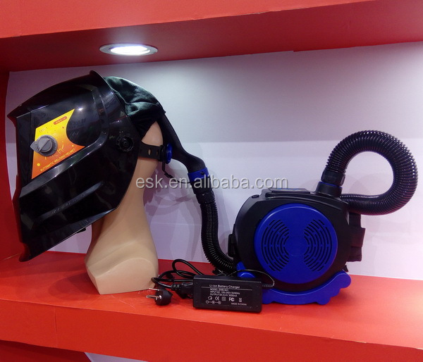 HXQ-9000 powered air filter purifying welding helmet with respirator