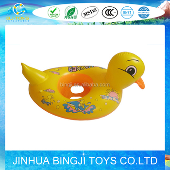 Hot sale inflatable baby seat float inflatable duck