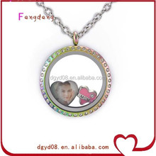 hot sale glass floating memory locket charms