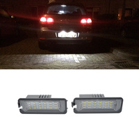 1Pair Car 3W 12V 18LED Rear Tail License Plate Light Lamp For VW Volkswagen Golf Passat Scirocco New Beetle For Porsche