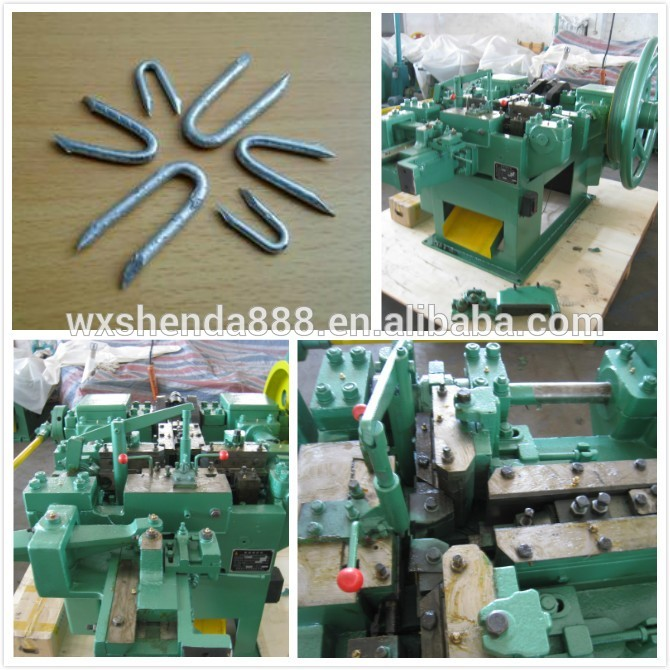 Advanced Low Noise Iron Wire U Nails Making Machine Manufacturer in Kenya