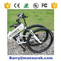 Foldable Gear Motor Durable Button Start/Stop Electric Bicycle