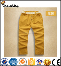 Clothing Manufacturer Wholesale Summer Pants For Children 100% Cotton Different Color Long Pants Kids Trousers Chinos
