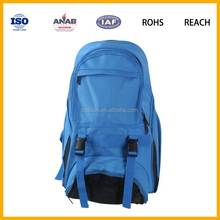 2016 Top Quality Multilayer Plain Style Nylon Strong Schoolbag Backpack Leisure Bag for Students