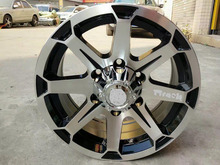 Aluminum alloy material alloy wheel 16X8.0 and 17X8.0 black machin face wheel rims F17020903