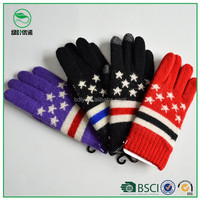 New jacquard knit gloves fashion warm winter touch gloves for iPone
