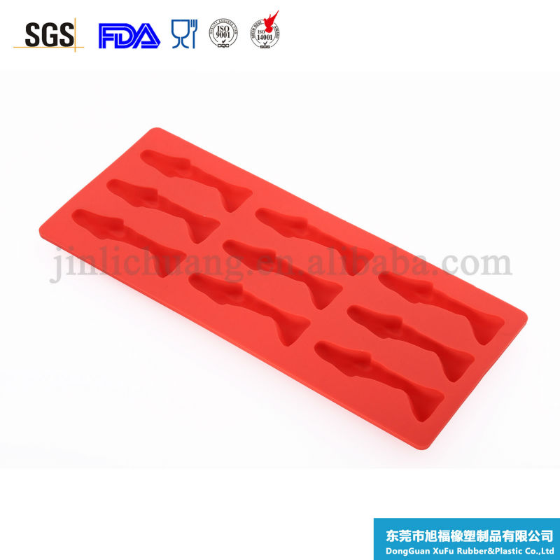 hot selling small fish shape silicone ice cube mold