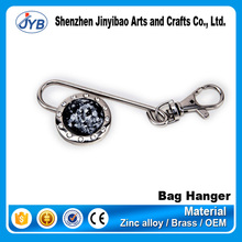 Cheap price China supplier Diamond decorative folding bag purse hook handbag hanger holder key chain