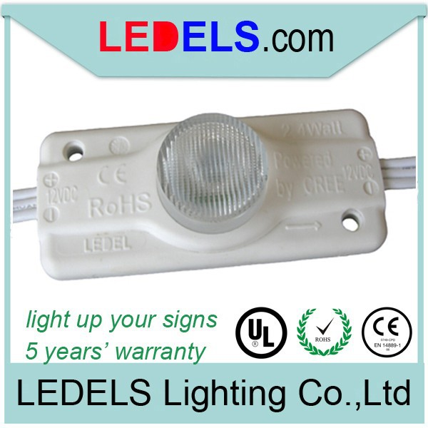 UL CE ROHS approved,5 years warranty,2.4W 12V 200LM Cree led,high power edge edge light led modul