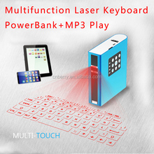 Multifunction Mini Wireless Keyboard Laser Bluetooth Keyboard Wireless Virtual Red Laser Keyboard With Speaker Power Bank