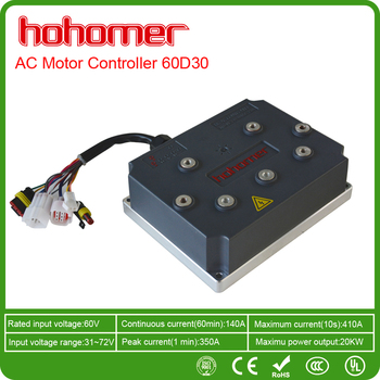 Brushless Electric Ac Motor Speed Controller Dc60v 25kw