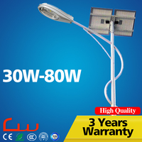Excellent quality high power 4M 30W cfl solar panel street light