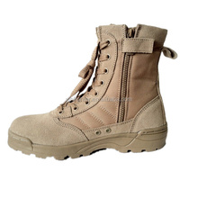 Full size field military tactical leather desert boots