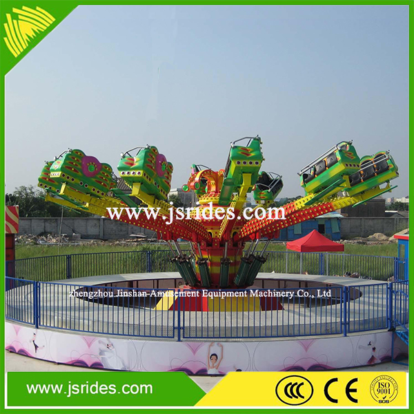 Thrilling Theme Park Family Games Outdoor Amusement Products Rotary Bounce Machine Rides For Children