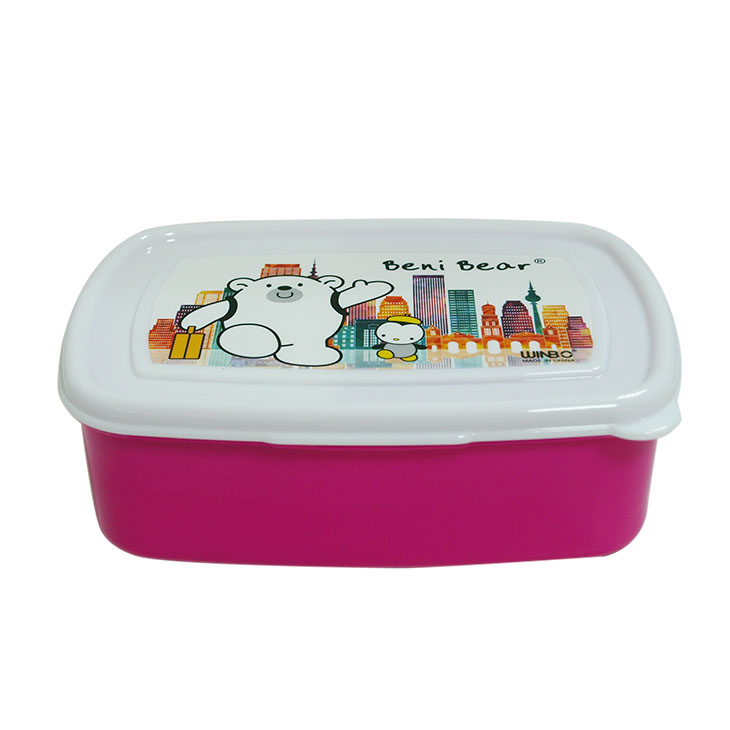 Custom Lunch Box Plastic with fork and spoon and inner box