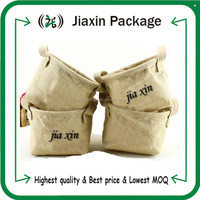 2015 new arrival jute shopping bags with logo printing and hot stamping
