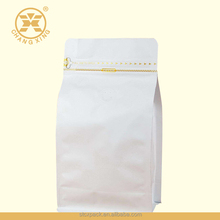 Matte White Stand Up Zipper Coffee Bag with Valve