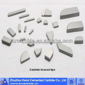 Full type of tungsten carbide brazed tips from manufactory and recommend suitable grade carbide for your use
