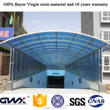 Polycarbonate solid roofing sheet used carports for sale
